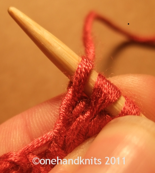 how to slip knit pass over