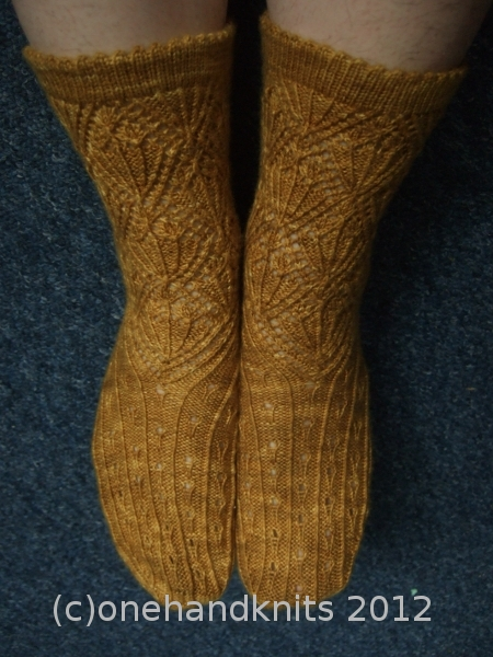 Fields of Gold Socks - Knit Now, Iss 10 June 2012